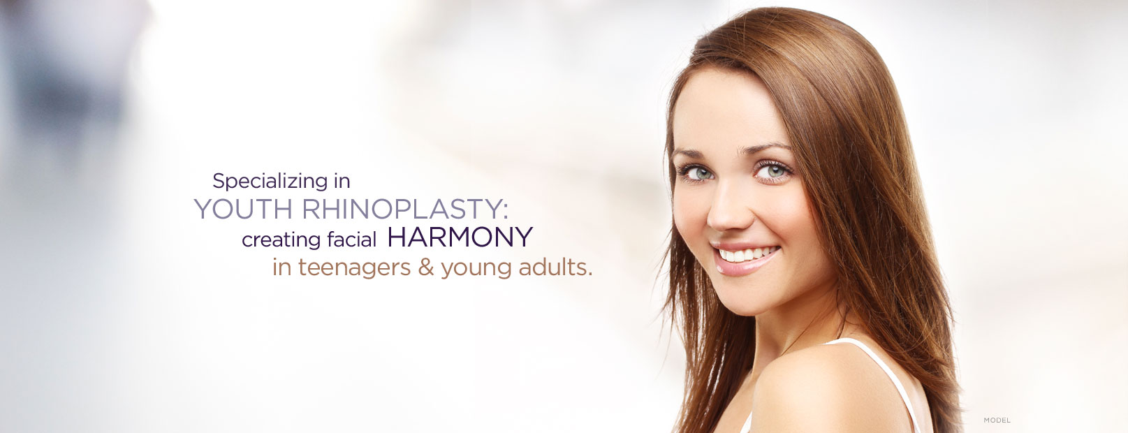 Specializing in Youth Rhinoplasty: creating facial harmoney in teenages & young adults banner toronto dr. adamson