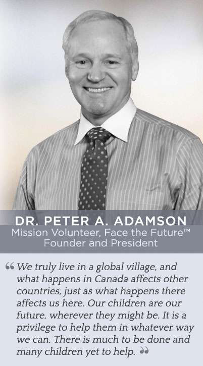 Dr Adamson Face the Future Founder and President