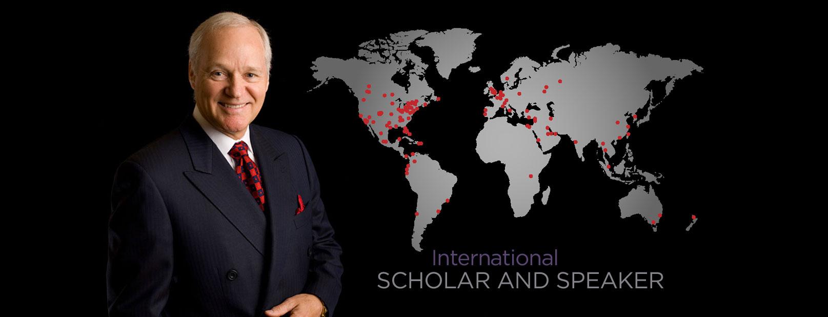 Dr. Adamson is an international scholar and speaker (horizontal banner)