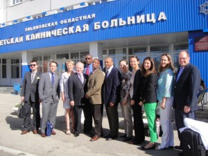Surgical Missions team at Pediatric Hospital in Russia