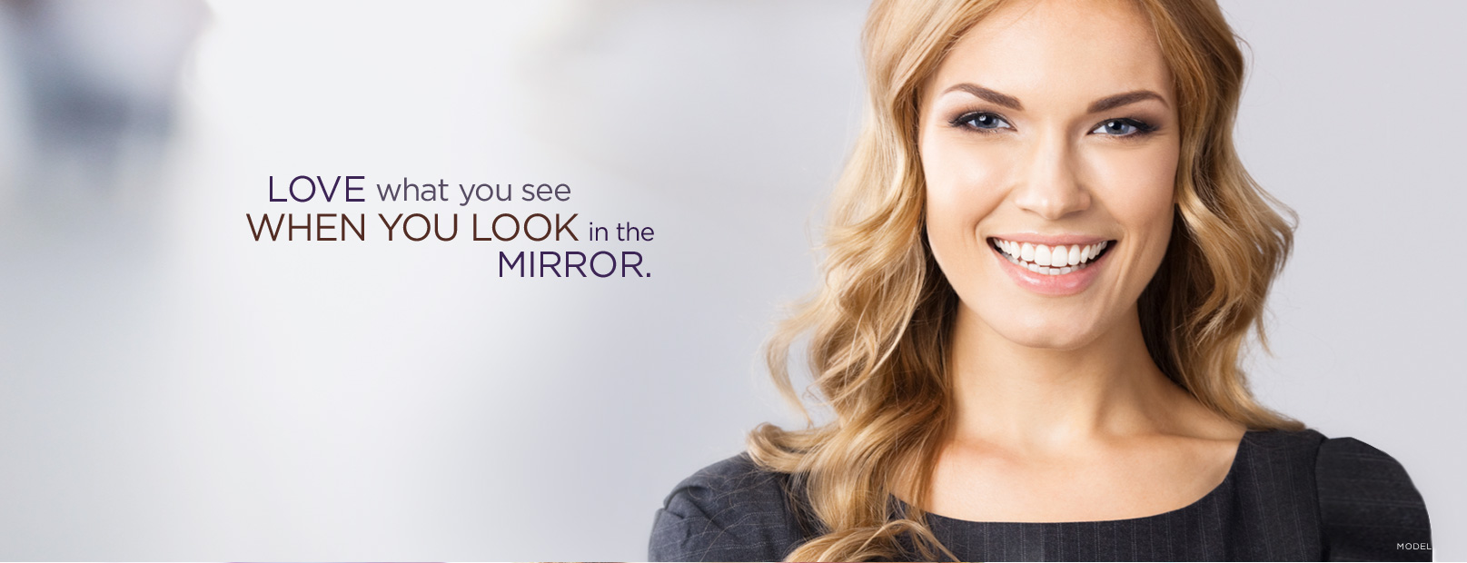 Toronto skin care products masthead: Love what you see when you look in the mirror.
