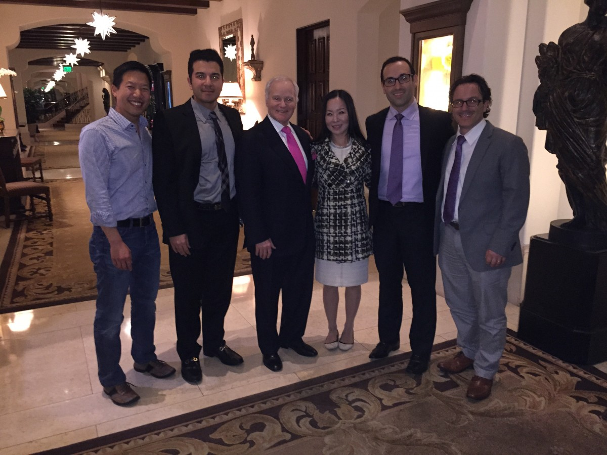Dr. Adamson with his former Surgical Fellows